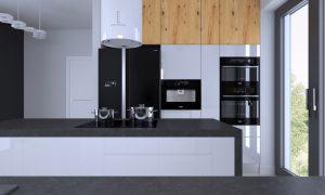 projekt wnetrza kuchni w Krakowie - APP Proste Wnetrze